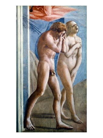Masaccio: Expulsion Premium Giclee Print by  Masaccio