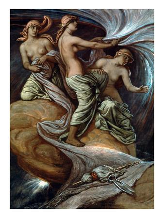 Fates Gathering In Stars Giclée-Druck von Elihu Vedder