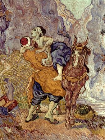 Van Gogh: Samaritan, 1890 Premium Giclee Print by Vincent van Gogh