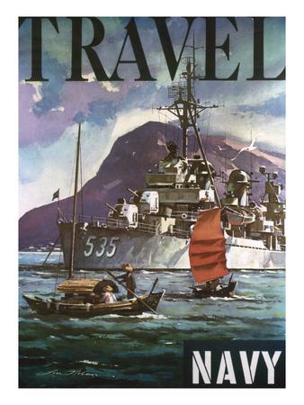 U.S. Navy Travel Poster Premium Giclee Print