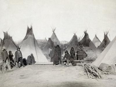 Sioux Encampment, 1891 Photographic Print by John C.H. Grabill