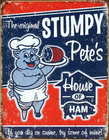 Stumpy Pete's Ham Tin Sign