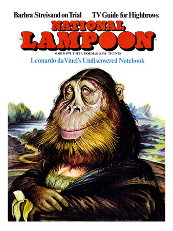 National Lampoon, March 1971 - Monal Lisa Monkey, daVinci's Undiscovered Notebook Art