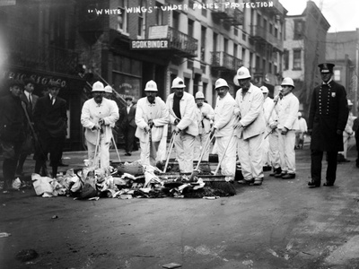 Street Sweepers, 1911 Photographic Print