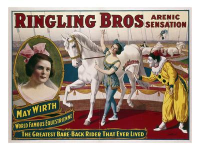 Circus Poster, C1918 Premium Giclee Print