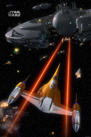 Star Wars-Space Battle Poster