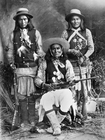 Apache Men, C1909 Stretched Canvas Print