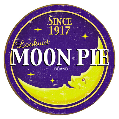 Moon Pie Round Logo Plaque en mtal