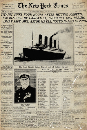 Titanic-Newspaper Plakat