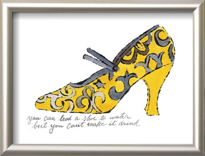 Yellow Pattern Shoe, c.1955 Framed Art Print