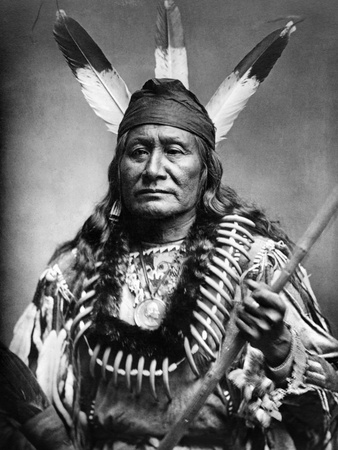 Sioux Man, C1890 Photographic Print
