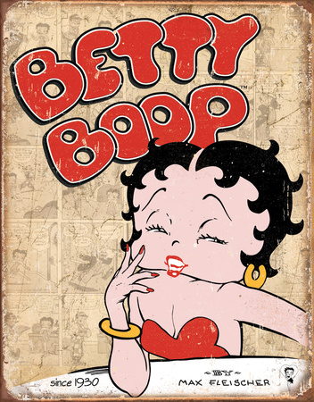 Betty Boop Retro Panel Tin Sign