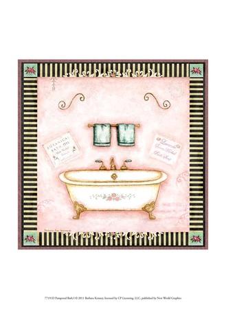 Pampered Bath I Print by Barbara Kenney
