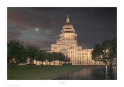 Texas Capitol Posters by Rod Chase