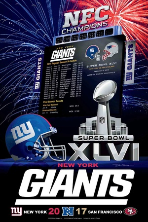 New York Giants 2012 Conference Champ Posters