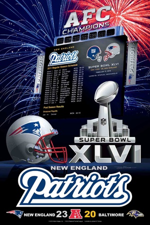 New England Patriots 2012 Conference Champ Poster