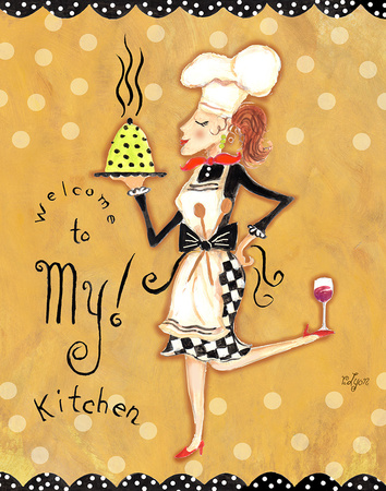 Welcome to My Kitchen Prints by Rebecca Lyon