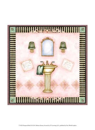Pampered Bath II Prints by Barbara Kenney
