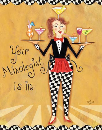 Mixologist Art by Rebecca Lyon