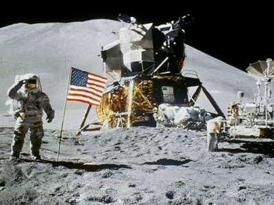 Apollo 15: Jim Irwin, 1971 Stretched Canvas Print
