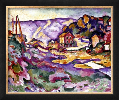 Braque: L'Estaque, 1906 Framed Giclee Print by Georges Braque