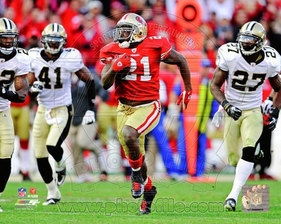 Frank Gore NFC Divisional Playoff Game Action Photo