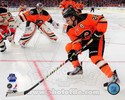 Claude Giroux 2012 NHL Winter Classic Action Photo