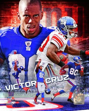 NFL Victor Cruz 2012 Portrait Plus Photo