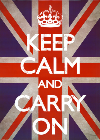Keep Calm & Carry On - Union Jack Affiche géante