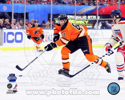 Jaromir Jagr 2012 NHL Winter Classic Action Photo
