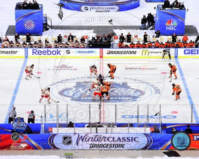 The Opening Face-Off 2012 NHL Winter Classic Photo