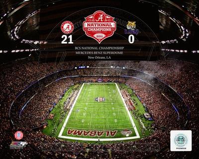 The Superdome University of Alabama Crimson Tide 2012 BCS National Champions Photo