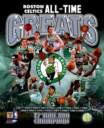 NBA Boston Celtics All Time Greats Composite Photo