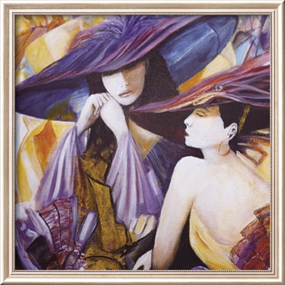 Lavendar Fashion IV Framed Art Print