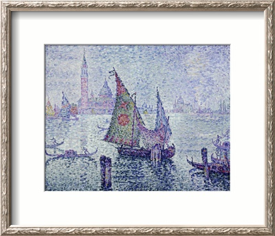 The Green Sail, Venice, c.1902 Framed Giclee Print