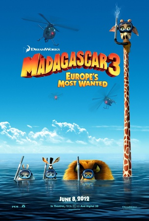Madagascar 3 : Bons Baisers d'Europe Affiche double face
