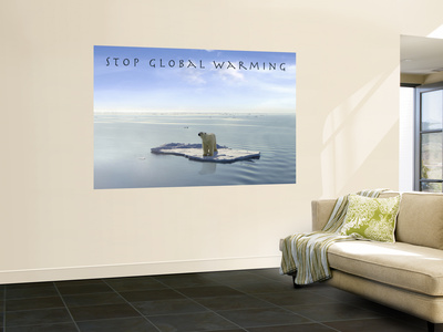 Stop Global Warming Laminated Oversized Art