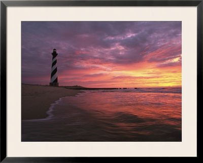 The 198-Foot Tall Lighthouse on Cape Hatteras Framed Photographic Print by Steve Winter
