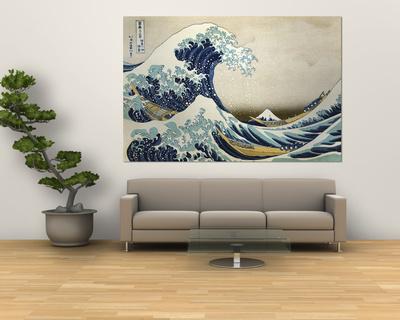 The Great Wave of Kanagawa , c.1829 Giant Art Print