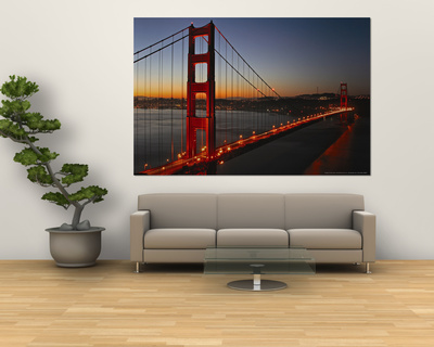 Golden Gate Bridge Laminated Oversized Art