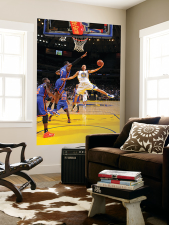 New York Knicks v Golden State Warriors: Stephen Curry and Amare Stoudamire Giant Art Print