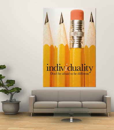 Individuality Laminated Oversized Art