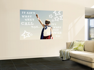 Confidence Laminated Oversized Art