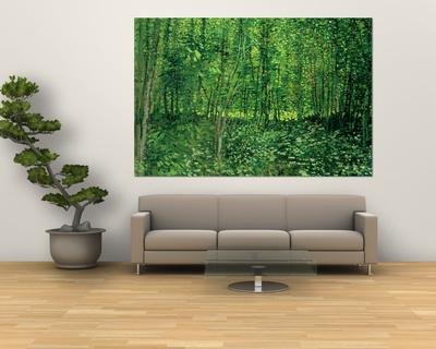 Woods and Undergrowth, 1887 Poster av Vincent van Gogh