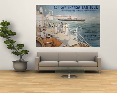 Cie. Gle. Transatlantique, circa 1910 Plakat