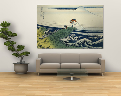 Soshu Kajikazawa in Kai Province from the Series the Thirty-Six Views of Mount Fuji Plakater af Katsushika Hokusai