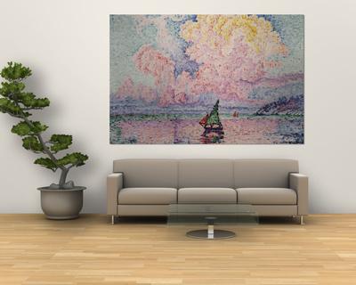 Pink Clouds, Antibes Prints by Paul Signac