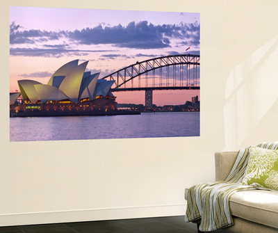 Opera House and Harbour Bridge, Sydney, New South Wales, Australia Posters by Michele Falzone