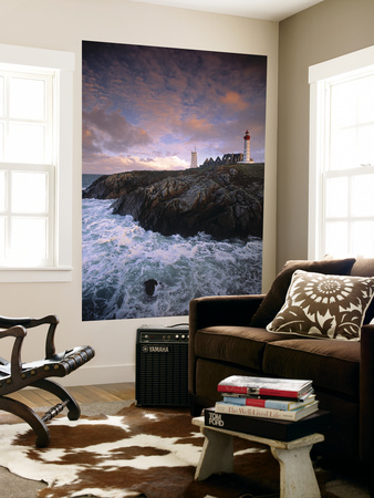 Lighthouse at Pointe de St-Mathieu, Brittany, France Posters af Walter Bibikow