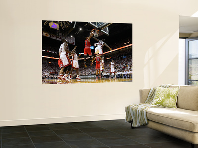 Chicago Bulls v Miami Heat - Game FourMiami, FL - MAY 24: Derrick Rose, Joel Anthony and LeBron Jam Prints by Mike Ehrmann